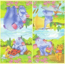 3 Serviettes en papier Winnie l'ourson et ses amis Disney  Paper Napkins Cartoon