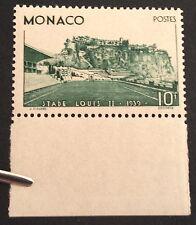 timbre monaco, n°184, 10f vert (stade) neuf **TBC, cote 217e bord de feuille TB