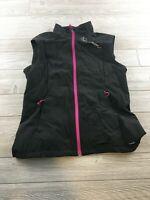Salamon Womens Full Zip Vest Black Size Large Sleeveless Softshell Hiking. Ridin