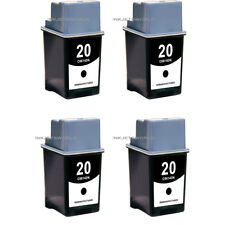 4 psc Reman HP 20 Ink Cartridge C6614DN Deskjet 632c 640 640c 642 642c 648