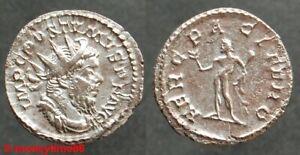 Romaine !  Antoninien de billon de Postumus revers Herc Pacifero