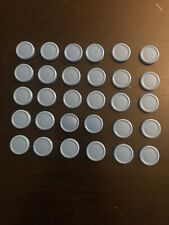 30 Medicine Vial Caps Small Blue