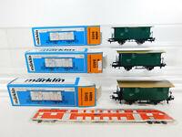 CK454-0,5# 3x Märklin Hamo H0/DC 8485 Güterwagen Ni22236 K.W.St.E., sehr gut+OVP
