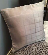 "X4 Ash GREY Cushion Cover Checked ELIZABETH J VINTAGE Jacquard material 18 X18"""