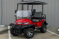 New Red / Gray Advanced Ev 48V Electric Golf Cart Lifted 4 Passenger Disc Brakes