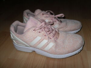 ADIDAS ZX FLUX TORSION Peach Pink Fabric Trainers *excellent condition*uk 5*38