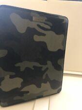 Michael Kors Men's Jet Set Camo Pvc  Leather Apple Zip iPad Case New Green