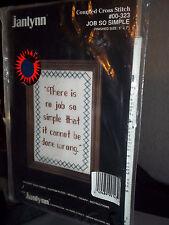Janlynn Counted Cross Stitch Kit Job So Simple #00-323