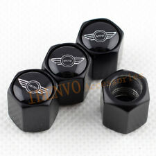 Black Metal Car Wheel Tyre Valve Stem Caps Accessories For MINI Cooper Vehicles