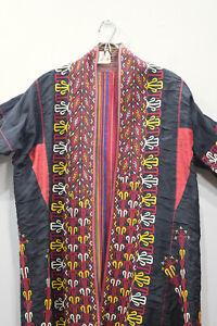 Coat Black Turkmen Embroidered Coat