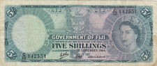 5 SHILLINGS VG BANKNOTE FROM BRITISH COLONY OF FIJI 1964  PICK-51d