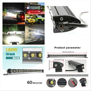 """20"""" 180W Single Row Ultra Thin Single Row LED Spot Light Bar Off-road ATV SUV"""
