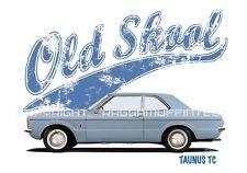 FORD TAUNUS TC 2 DOOR t-shirt. OLD SKOOL. CLASSIC CAR. MODIFIED. RETRO.