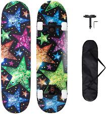 """Metroller Skateboard, 31""""X 8"""" Pro Complete Standard Skate Boards For Girls Boys"""