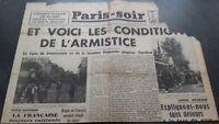 Journal París-soir N º 6108 Jueves 27 Junio 1940 ABE