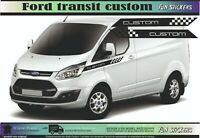 Ford transit custom bande latérale side racing autocollant adhésif sticker