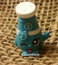 NEW Shopkins Season 1 Rare Sally Shakes 1-018 blue pantry collection salt shaker