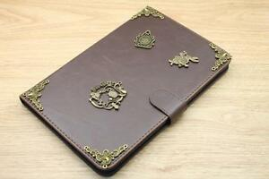 Alice In Wonderland Magnetic Cover Card Holder Handmade Stand Flip Case For iPad