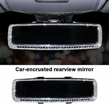 Bling Rhinestone Car Rear View Mirror for Women Rhinestone Car Mirror Cover Trim