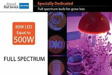 80W LED 500W E27 110V 220V Grow Box Bulb Plants Hydroponic Light FULL SPECTRUM