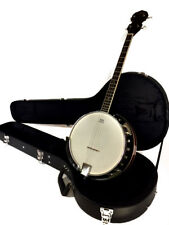 NEW CELTIC-IRISH 4 STRING TENOR BANJO WITH HIGH QUALITY HARD CASE