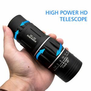 Day Night Vision 16x52 HD Optical Monocular Hunting Camping Handheld Telescope
