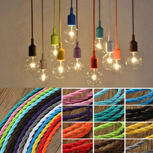 TWISTED 3 Core Braided Fabric Cable - Vintage Electric Wire - Flexible Lighting