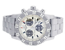 Custom Breitling Colt II A7338710-BB49-SS 44MM Chronograph Diamond Watch 1.5 Ct
