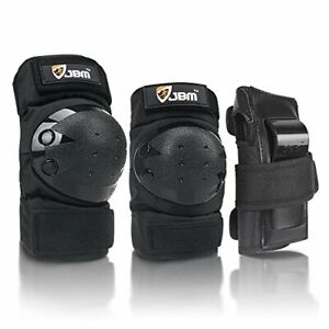 JBM international Adult   Child Knee Pads Elbow Pads Wrist Guards 3 In 1 Protect