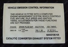 Suits Holden HSV VN VP VR HSV SV3800 -Engine Emission Decal Sticker V6 3800 3.8L