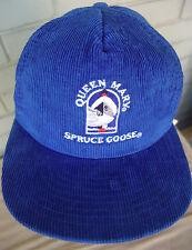 TVG Spruce Goose Queen Mary Howard Hughes Corduroy Snapback Baseball Hat Cap