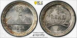 Guatemala 1878 G 1/4 Real PCGS MS67+ finest known PC1057 combine shipping