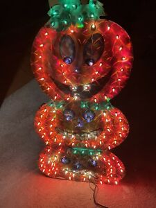 """36"""" Lighted Holographic HALLOWEEN Outdoor Holiday Yard Decoration PUMPKIN TOWER"""