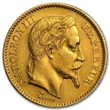 France Gold 20 Francs Napoleon III Avg Circ - SKU #44326