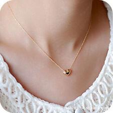 Fashion Gold Heart Pendant Thin Chain Necklace - Women Jewellery Choker Girls
