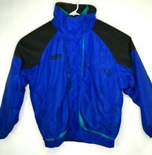 Vtg Columbia Mens SZ Large Blue Teal Powder Keg Snow Parka Ski Coat Jacket 2 N 1
