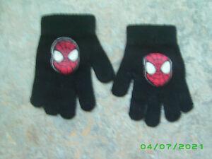 Fingerhandschuhe Handschuhe - Schwarz mit Motiv Spiderman