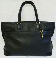 Fossil Julia Large Black Leather Work Tote, Business, Overnight Bag RSP £279.00