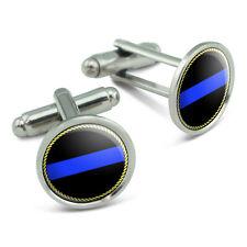Thin Blue Line Men's Cufflinks Cuff Links Set