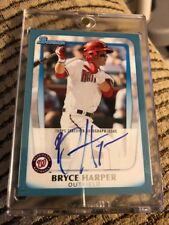 2011 Bowman BRYCE HARPER BLUE BORDER AUTO AUTOGRAPH RC SP #40/250 NATIONALS BP1