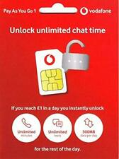 UK Vodafone SIM Card Fast 4G Data,Unlimited mins & Texts Free Roaming in Europe