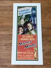 Master Minds (1949) Insert Movie Poster Mounted Matted Bowery Boys Leo Gorcey