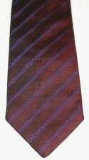 OZWALD BOATENG Mens Burgundy Striped All Tie