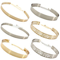 HD_ AU_ Stylish Women Party Hollow Metal Wide Waistband Belt Waist Chain for Dre