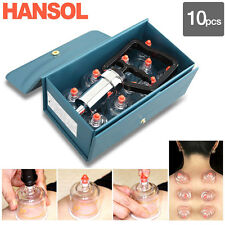 HANSOL Cupping Set 10(cups) Slimming CUPPING Massage Acupuncture, Vacuum Therapy