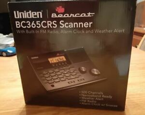 Uniden (BC365CRS) 500-Channel Alarm Clock Radio Scanner brand new free shipping