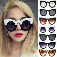 Fashion Womens Cat Eye Sunglasses Retro Vintage Shades Oversized Designer Large