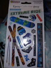 Sandylion Epoxy Dimensional Stickers Skiing Winter Sports Snowboard NEW in Pack