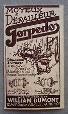 Publicité TORPEDO Moyeux derailleur velo 1935  french advert