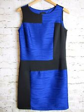 Cynthia Rowley Womens Dress Blue Black Colorblock Sleeveless Sheath Size 10